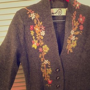 Anthropologie Long Wool Coat Size Small/Medium